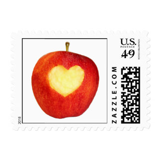 Apple Heart Stamps
