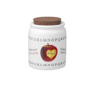Apple Heart Teacher Appreciation Jar Candy Jar
