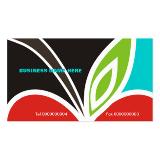 Apple Heart Teacher s Business Card-Turquoise