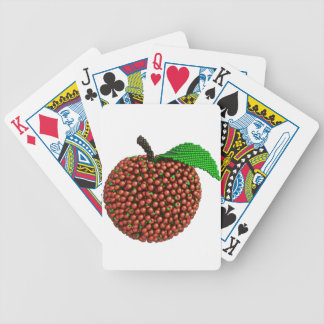 Apple hizo de manzanas baraja de cartas bicycle