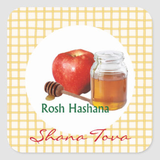 Apple Honey Sweet New Year Square Sticker