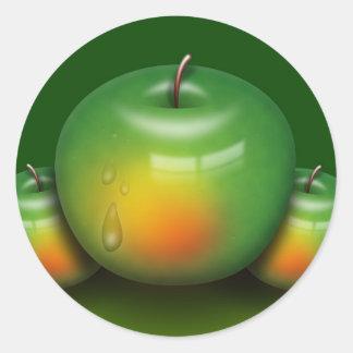 Apple Image Classic Round Sticker