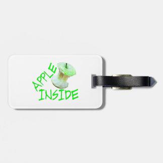 Apple Inside Luggage Tag