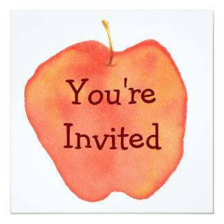 Apple 5.25x5.25 Square Paper Invitation Card