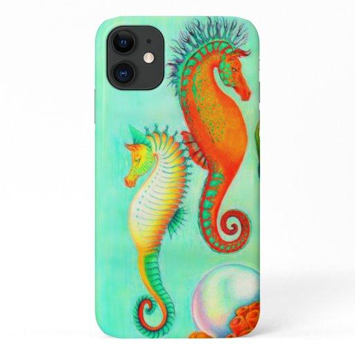 Apple iphone 11 seahorses iPhone 11 case