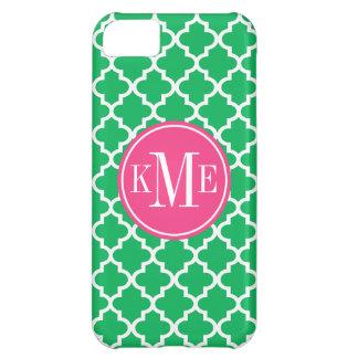 Apple iPhone 5 Case | Green + Pink Quatrefoil