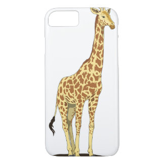Apple iPhone 7 case with giraffe graphic