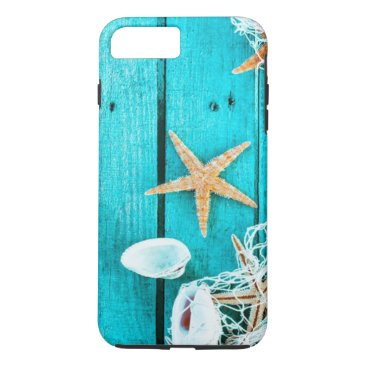 "Beach Themed Apple iPhone 7 Plus,"" Sea Shell""  Tough Phone Case"