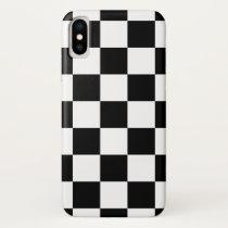 "Apple iPhone X case ""Checkerboard"" - Black/white"