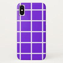 "Apple iPhone X case ""Grid"" - Lavender/white"