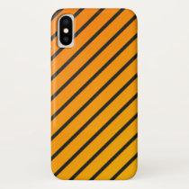 """Apple iPhone X case """"Lines"""" - Orange/anthracite"""