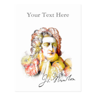 Apple Isaac Newton (Gentle) Postcard