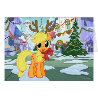 Apple Jack Reindeer Card