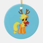 Apple Jack Reindeer Christmas Tree Ornaments