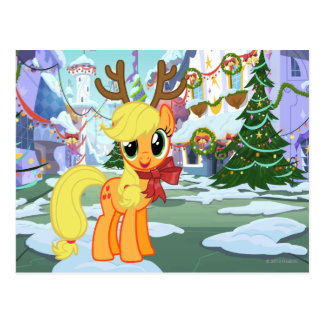 Apple Jack Reindeer Postcard
