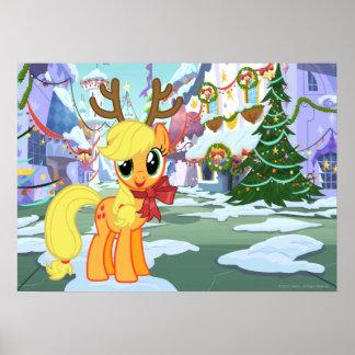 Apple Jack Reindeer Poster