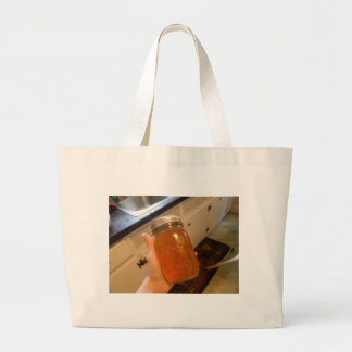 Apple Jelly Canning Jar Large Tote Bag