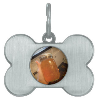 Apple Jelly Canning Jar Pet Name Tag