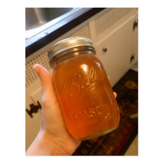 Apple Jelly Canning Jar Postcard