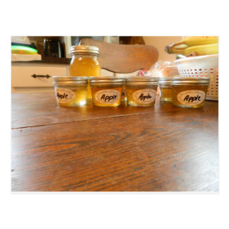 Apple Jelly Canning Photography Postcard