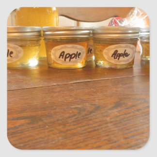 Apple Jelly Canning Photography Square Sticker