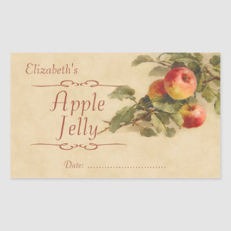 Apple jelly or canning sticker