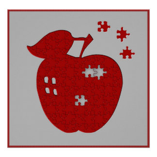 Apple Jigsaw Puzzle Poster
