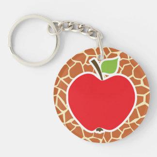 Apple Jirafa Estampado de animales Llaveros