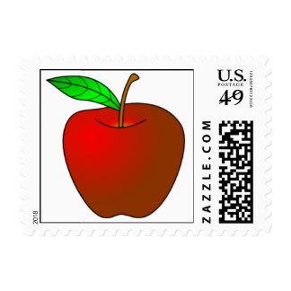 Apple jugoso rojo sello postal