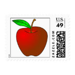 Apple jugoso rojo sellos