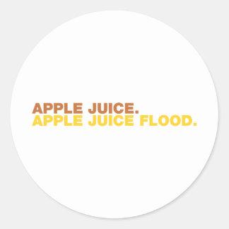 Apple Juice. Apple Juice Flood. Classic Round Sticker