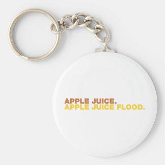 Apple Juice. Apple Juice Flood. Keychain