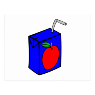 Apple Juice Box Postcard