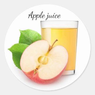 Apple juice classic round sticker