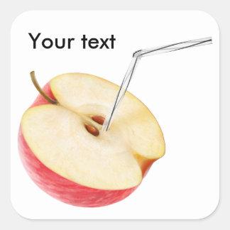 Apple juice square sticker