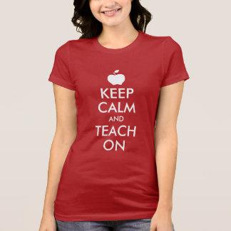 Apple Keep Calm and Teach On T-Shirt