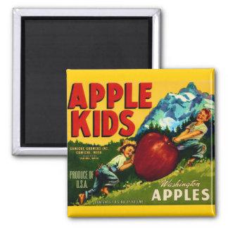 Apple Kids Refrigerator Magnet