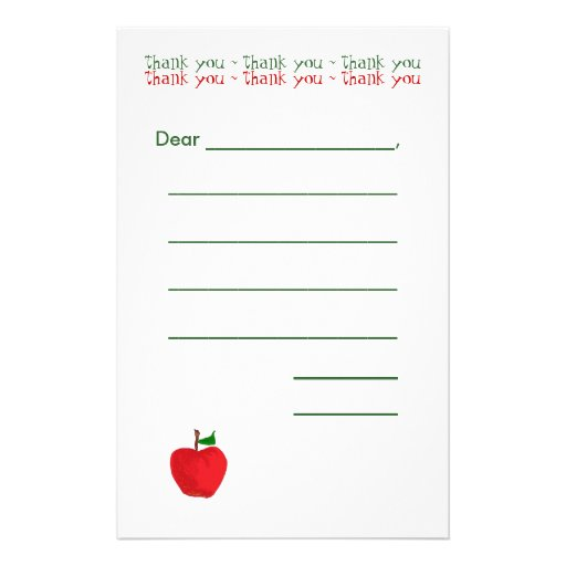 Apple Kid's Stationary Stationery Paper