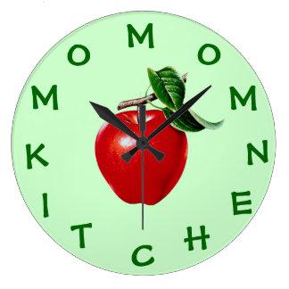 Apple Kitchen Clock