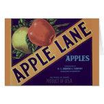 """Apple Lane"" Fruit Crate Label Card"