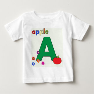 Apple Letter A Baby T-Shirt