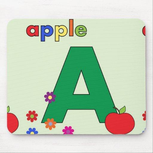 Apple Letter A Mouse Pad