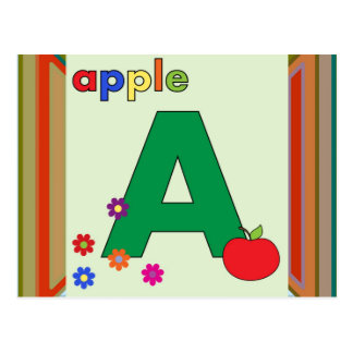 Apple Letter A Postcard