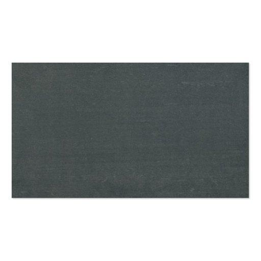 Apple & Letters Chalkboard School Teacher Business Card (back side)
