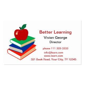 Apple, libros, educación plantilla de tarjeta de visita