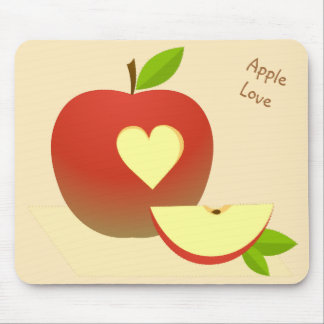 Apple Love Mouse Pad