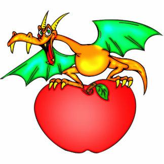 Apple Loving Dragon Statuette