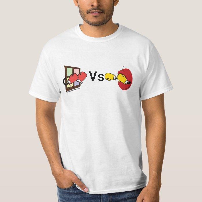 Apple Mac Vs Microsoft Windows Boxing Match T-Shirt