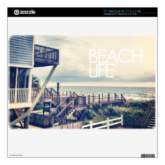 Apple MacBook - Beach Life - Vintage Beach House MacBook Decals