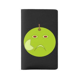 Apple malvado con el cuaderno de Halloween de la Funda Para Libreta Y Libreta Grande Moleskine
